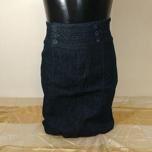Denim Jean Stretch Pencil Skirt